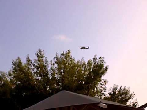 Sobrevuela helicoptero de PFP centro de Reynosa