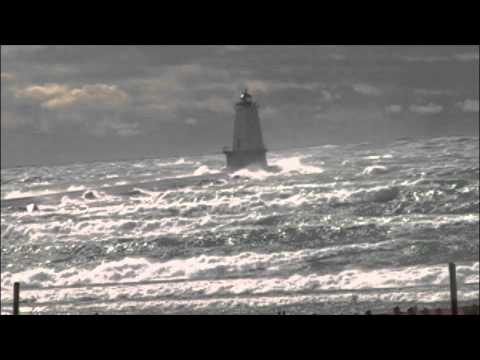 Ludington, Michigan high wind video