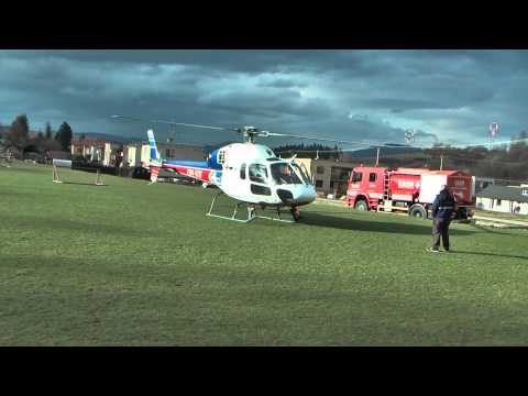 Helicopter AS-355N Ecureuil - landing