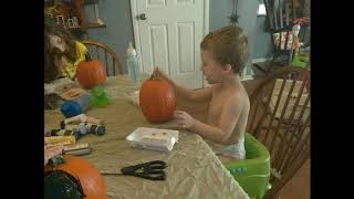 Painting pumpkins and Halloween crafts