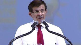 Ahmet Davutoğlu, AK Parti kongresinde konuştu