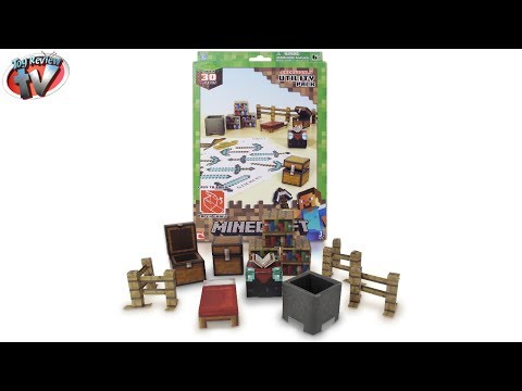Minecraft: Overworld Utility Pack Papercraft Toy Review. Jazwares