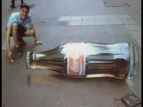 Julian Beever et ses Trompe-l'oeil Video