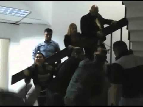 Lawmakers chain themselves in protest