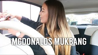 MCDONALDS MUKBANG!! & DRIVE WITH ME TO MCDONALDS!! *again*