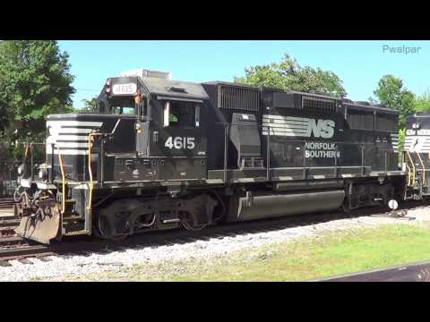Locomotive Power Moving To & Fro Griffin GA 5-13-2013