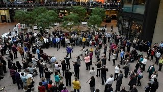 Beethoven Flash Mob - Wayzata Symphony Orchestra and Edina Chorale - Minneapolis Nov 16 2015