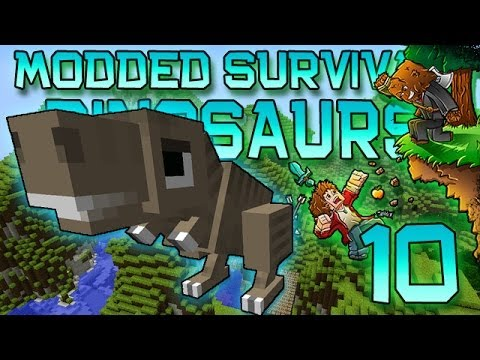 Minecraft: Modded Dinosaur Survival Let's Play w/Mitch! Ep. 10 - CARL IS HUGE!
