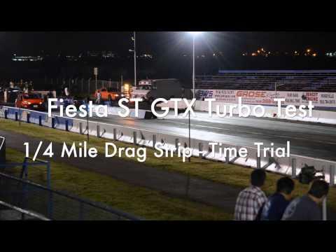 ATP Turbo Fiesta ST 12.9 sec 1/4 mile pass GTX Turbo Test