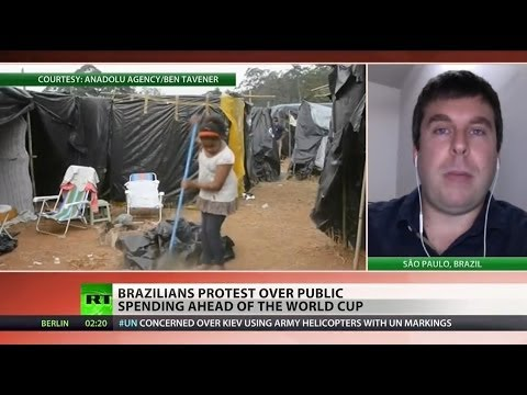 Brazil's World Cup forces families out of homes, into tents