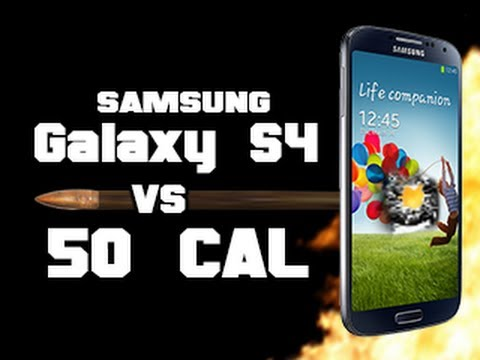 Samsung Galaxy S4 vs 50 Cal - Torture test in slow motion RatedRR - Tech Assassin: Galaxy SIV