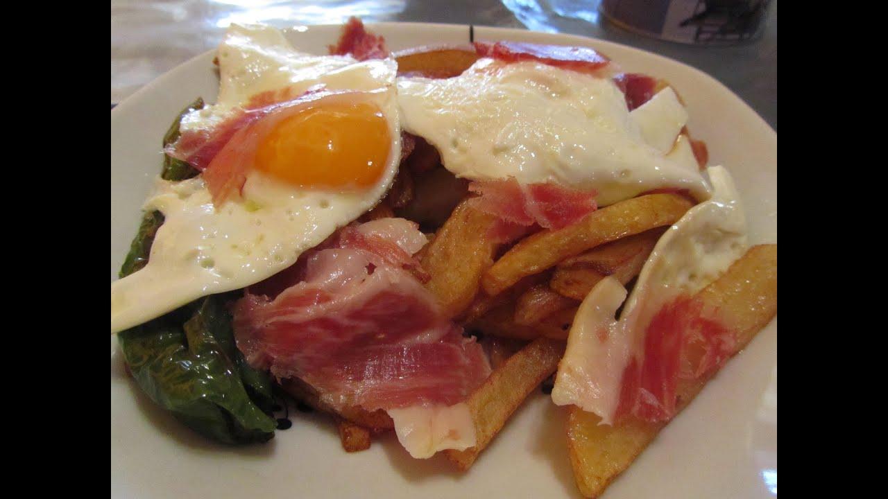 Patatas con huevo y jamon youtube - Bacalao con garbanzos y patatas ...