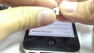 ปลดล็อค iPhone4S ios.6.1.2 6.1.3 CANADA US UK JAPAN ฯ ใช้แผ่นประกบ