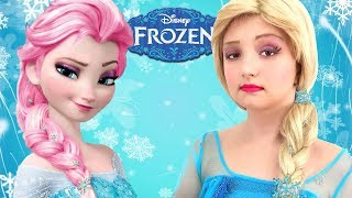 Kids Makeup FROZEN with Colours Paint. Baby DRESS UP & Play with Toys