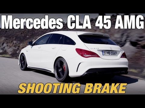 NEW Mercedes CLA 45 AMG Shooting Brake - First Driving
