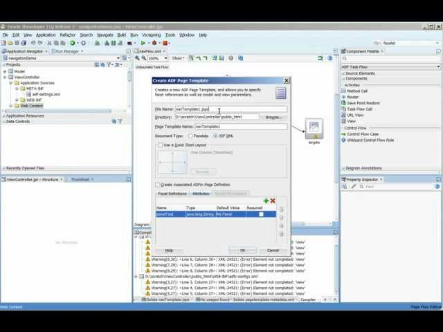 ADF Training | How to Create Navigation Panes using a Menu Model in Oracle ADF