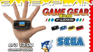 Sega Reveals the Game Gear Micro!