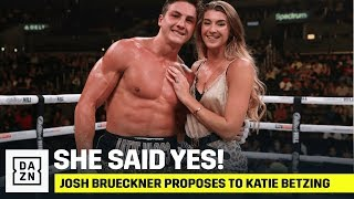Josh Brueckner Proposes To Girlfriend Katie Betzing After Winning Boxing Pro-Debut
