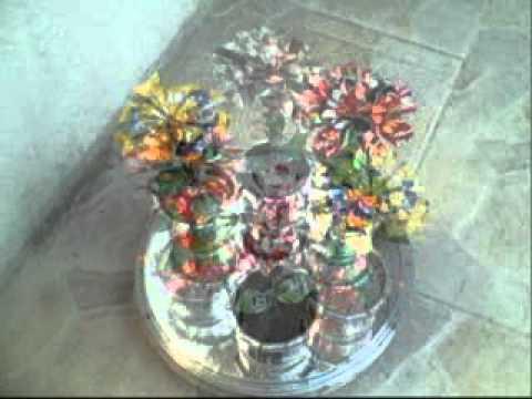 flores en lata