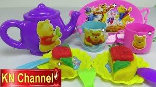 Đồ chơi trẻ em Bé Na bánh trung thu đất nặn bình trà Edward Teapot play doh cake kid toys