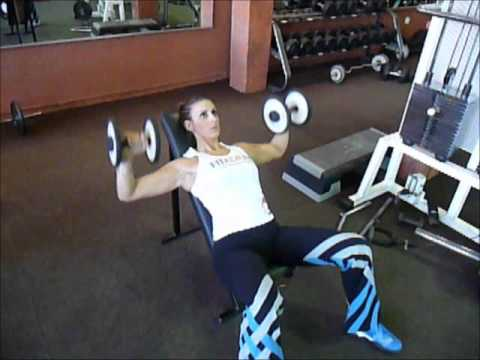 Exercice de musculation pectoraux d velopp inclin avec halt res youtube - Developpe incline avec halteres ...