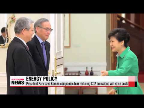 President Park: Korean companies worry cutting CO2 emissions will raise costs