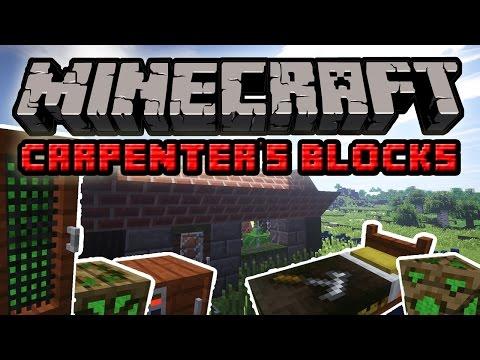 Minecraft Mody: Carpenter's Blocks Mod - Przerabiaj Bloki! Twórz Epickie Budowle!