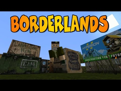 BORDERLANDS MOD| HYPERIONCRAFT MOD| Minecraft Mod Review