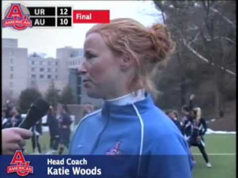 Interview After Women's Lacrosse Falls 12-10 to Richmond - American University Eagles Video