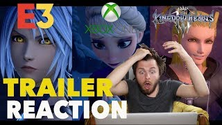 KINGDOM HEARTS 3 - E3 2018 X BOX REVEAL REACTION!