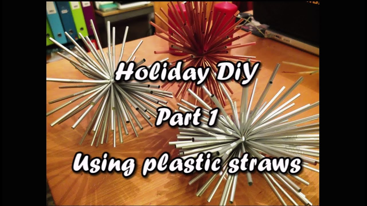 Christmas Crafts With Straws