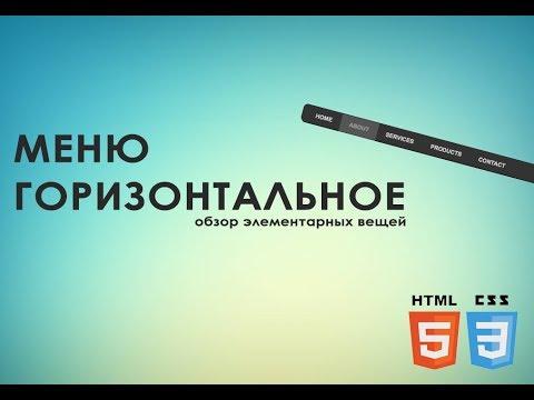 Как легко сделать горизонтальное меню HTML CSS (За 5 минут)