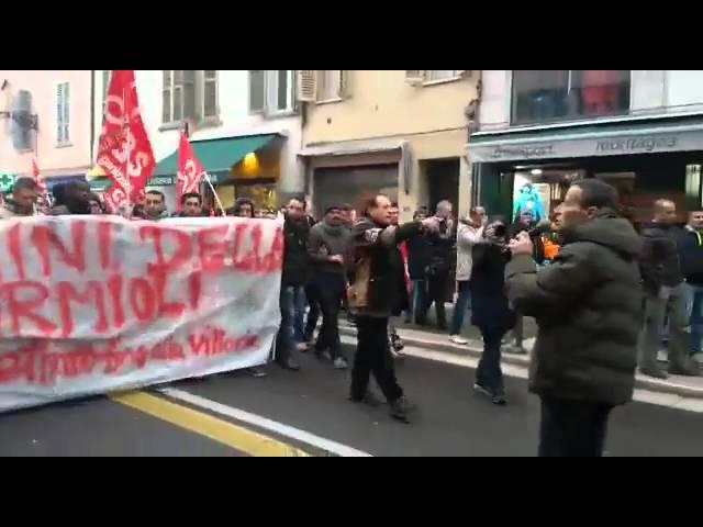 Parma 30/01 corteo a sostegno dei facchini della Bormioli
