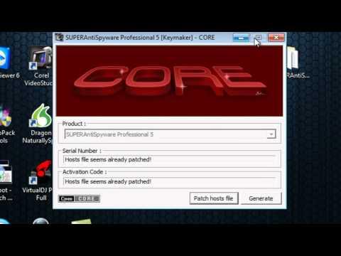 SUPERAntiSpyware Pro V.5 en Français avec Keygen (Serial Valide) TUTO FR