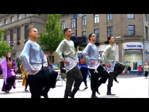 Lajee Dabka Dancers from Palestine begin tour of UK in Dundee Scotland with intro by Rich Wiles