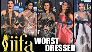 Bollywood Actress WORST DRESSED At IIFA Awards 2017 New York