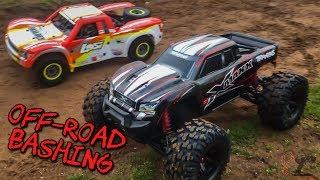 Losi Super Baja Rey Vs Traxxas X-Maxx Off Road Dune Bashing