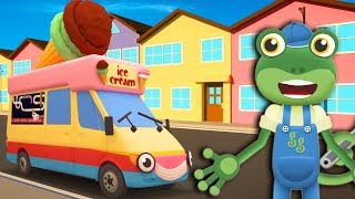 Gecko's Garage -  Ice Cream Truck - Learn With Gecko | Learning For Kids | Trucks For Kids