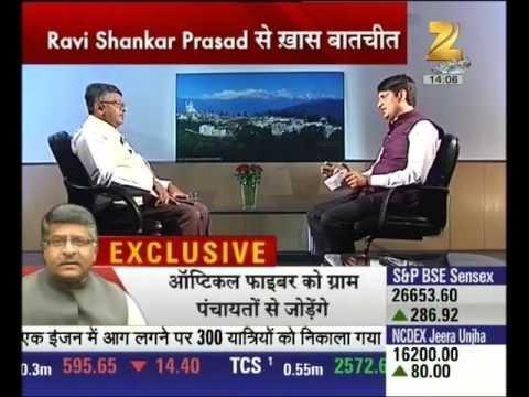 Ravi Shankar Prasad, Minister of Telecom speaks on Digital India and Modi's 2 year governance report