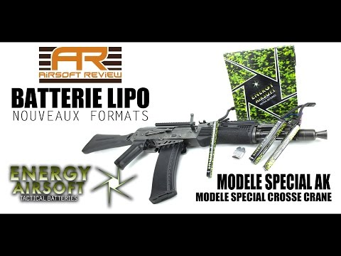 BATTERIES LIPO SPECIAL AK / CROSSE CRANE # ENERGY AIRSOFT # AIRSOFT REVIEW