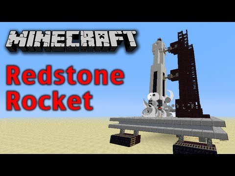 Minecraft Redstone Space Rocket