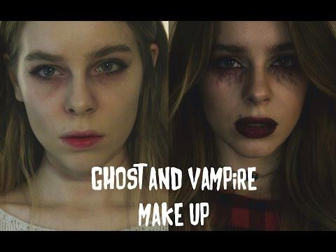 МАКИЯЖ НА ХЭЛЛОУИН : Мертвая девушка и Вампир   Ира Блан