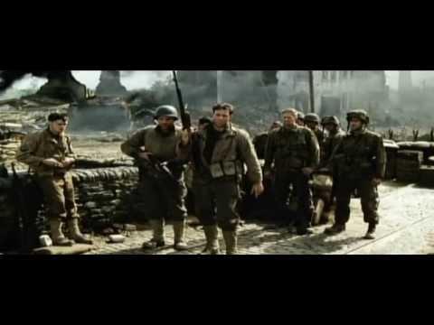 Captain Miller speak with Private Ryan