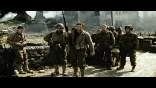 Captain Miller speak with Private Ryan