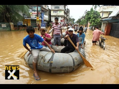 Assam flood situation grim, 77 people dead - NewsX