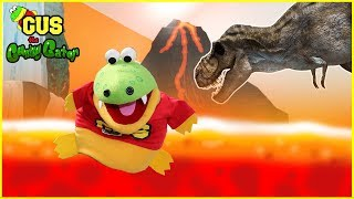Pretend Play Adventure to Dinosaur World with Giant Dinosaurs + Learn Colors