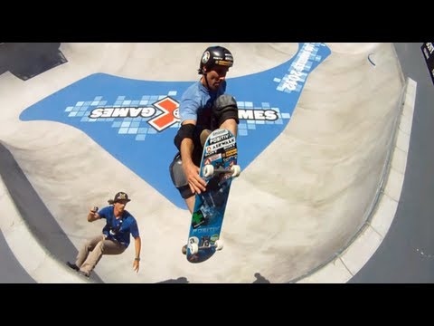 Skateboard Park Course Preview with Andy Mac and Bucky Lasek - Summer X Games 2012