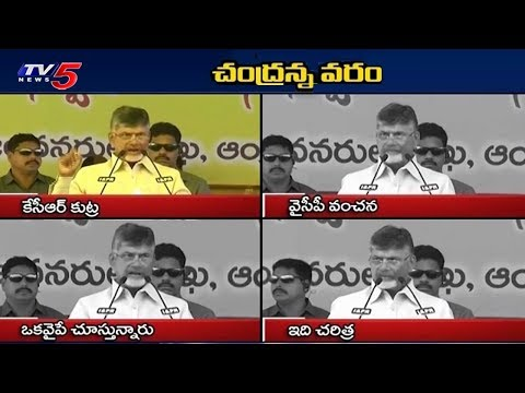 CM Chandrababu Comments to KCR & YS Jagan | TV5 News