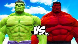 BIG HULK VS BIG RED HULK - EPIC BATTLE