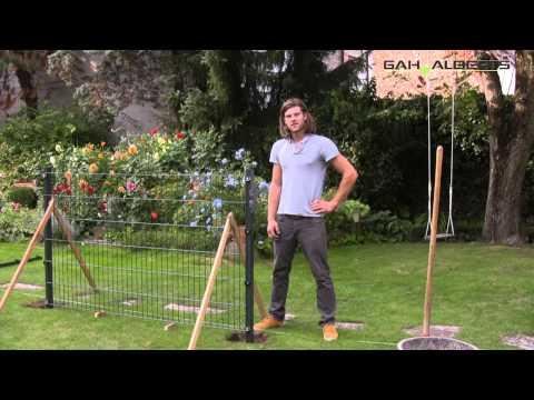 Aufbau eines Zaunes aus Doppelstabmatten